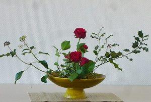 ikebana-rose